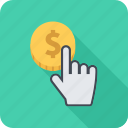 click, cursor, money, pay, payment, per icon