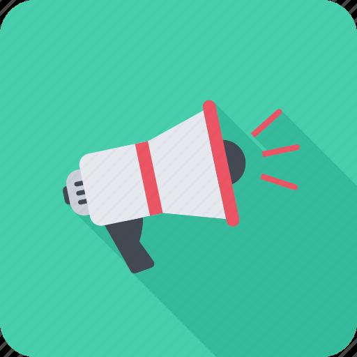 advertising, marketing, megaphone, notification, promoting icon