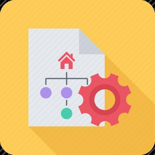 optimization, paper, seo, site, structure icon