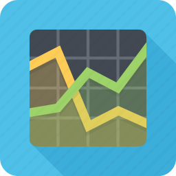 analytics, graph, schedule, statistics icon