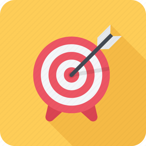 arrow, hit, marketing, seo, target, targeting icon