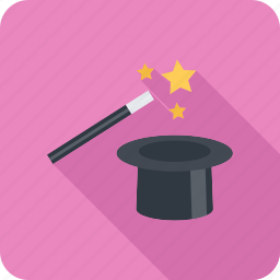 focus, magic, trick, wand icon