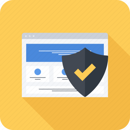 protection, security, shild, site, web icon