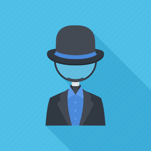 black hat, magnifier, search, seo icon