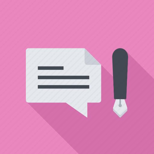 blog, blogging, comment, forum, post, talk icon