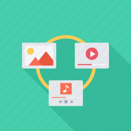 file, files, image, music, seo, sharing, video icon
