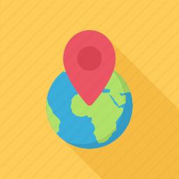 local, location, pin, planet, search icon
