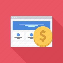 monetization, money, profit, site, web icon