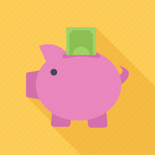 guardar, money, money box, pig, save, saving icon