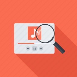 magnifier, music, search, seo icon