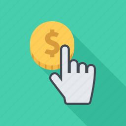 click, cursor, money, pay, payment icon