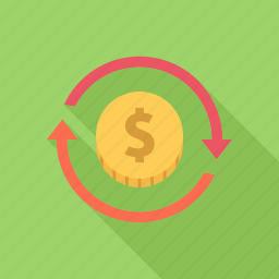 investment, money, profit, return, turnover icon