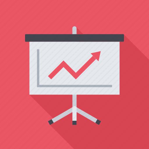 analytics, graph, presentation, profit, seo, statistics, training icon