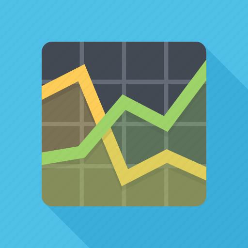 analytics, graph, schedule, statistics icon