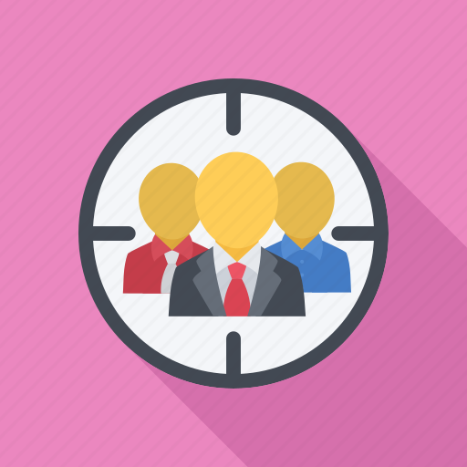 auditory, group, marketing, people, target icon