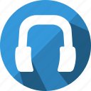 audio, ear, handsfree, headphone icon