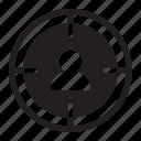 seo, target, user icon