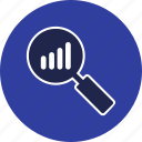 analysis, analytics, growth, search icon