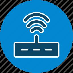 internet, router, signal, wifi, wireless icon