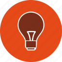 bulb, concept, idea, lamp, light, power icon