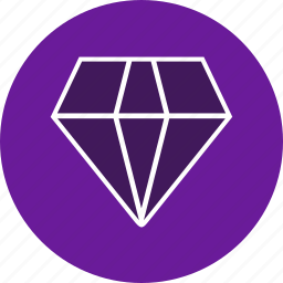 crystal, diamond, gem, jewel, ring, shine, stone icon