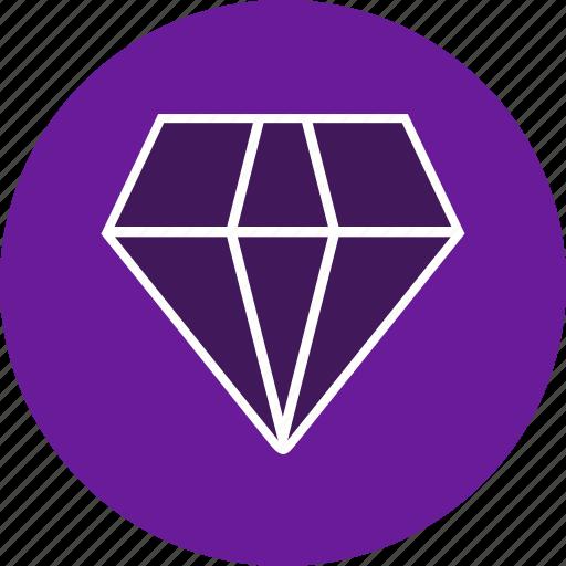 diamond, gemstone, jewel, jewelry icon