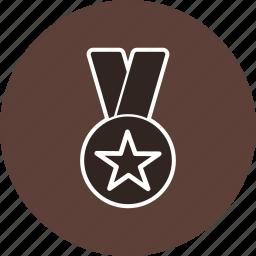 award, gold medal, medal, star medal icon