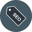 label, performance, seo, tag icon