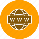 earth, globe, link, url, website icon