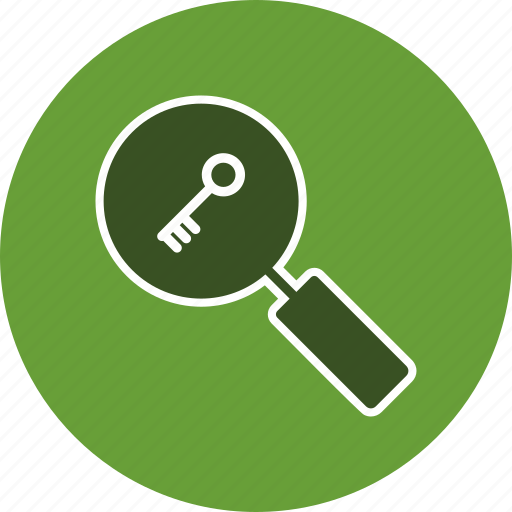 find, keyword, magnifying glass, search icon