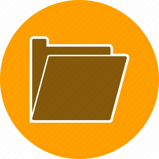 document, file, open folder icon
