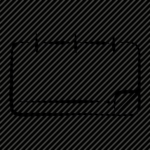 calendar, date, deadline, event, hand drawn icon