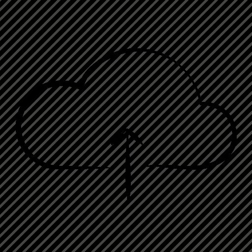 cloud, data, hand drawn, storage, upload icon