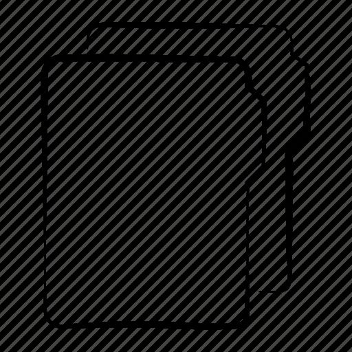 data, document, folder, folders, hand drawn icon
