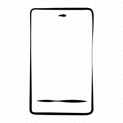 hand drawn, mobile, phone, responsive, smartphone icon
