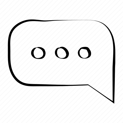 chat, dialogue, hand drawn, speech bubble, talk icon