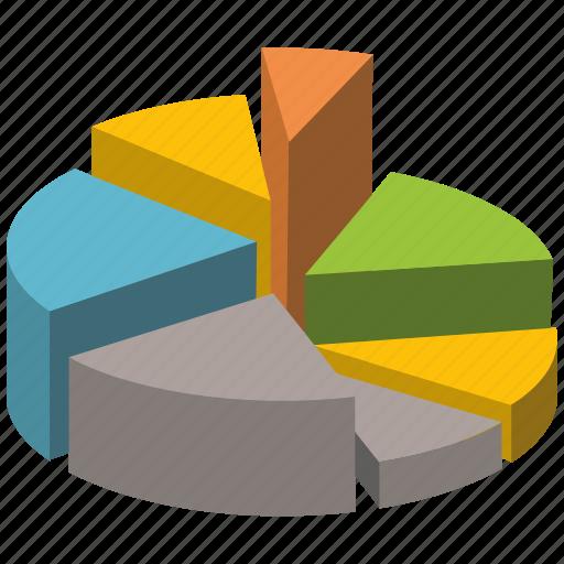 bar, chart, elements, graph, pie3d, visualization icon