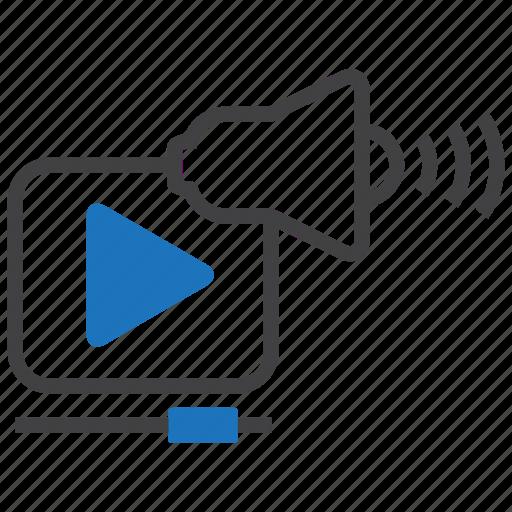 advertise, marketing, media, movie, promotion, video, viral icon