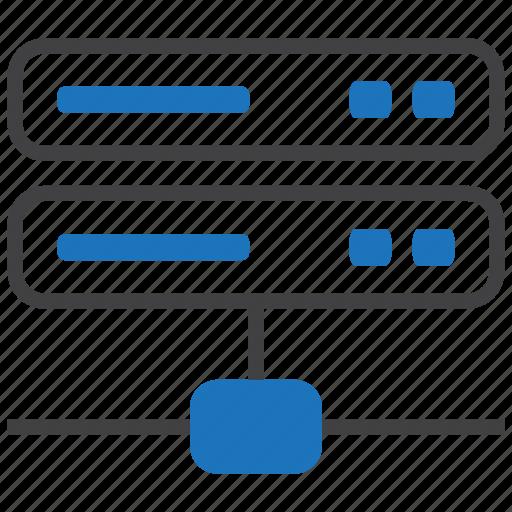 data, database, host, hosting, network, server, web icon