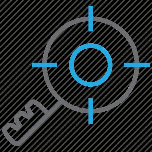 aim, keyword, marketing, search, seo, target, targeting icon