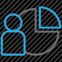 customer, market, marketing, niche, pie, promotion, research icon