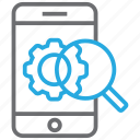 gear, internet, marketing, mobile, phone, seo, settings icon