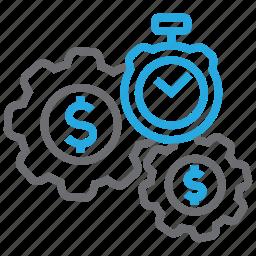 business, marketing, money, optimization, performance, seo, time icon