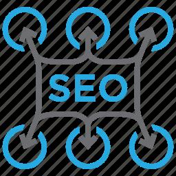 arrow, business, idea, optimization, planning, seo, solution icon