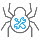 design, equipment, hacker, repair, spider, tool, tools icon