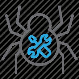 design, equipment, hacker, repair, spider, tool, tools icon