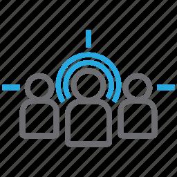 arrow, audience, bullseye, customer, goal, market, target icon