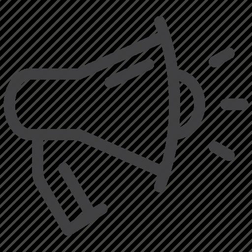 advertising, bullhorn, loudspeaker, megaphone, promotion, speaker icon