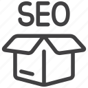 delivery, marketing, pack, packages, seo, services icon