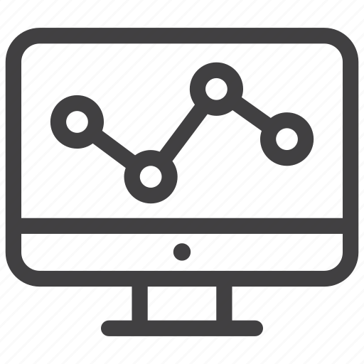 analysis, chart, diagram, monitor, presentation, report, statistics icon